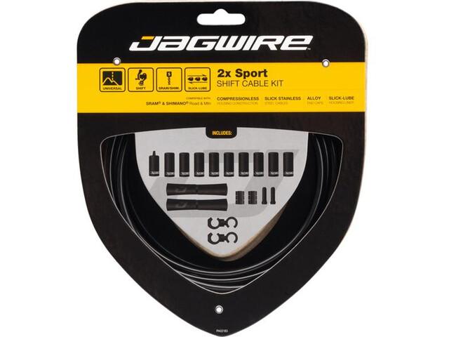 Jagwire 2X Sport Shift Set de câble de dérailleur pour Shimano/SRAM, black